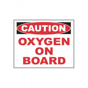 Caution Oxygen On Board Decal