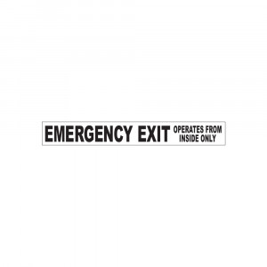 Emergency Exit Inside Only Decal
