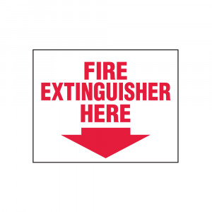 Fire Extinguisher Here Decal