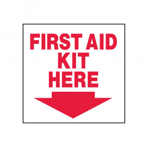First Aid Kit Here Decal