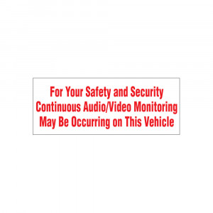 Audio/Video Monitoring Decal