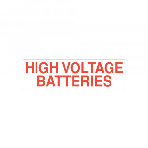 High Voltage Batteries Decal