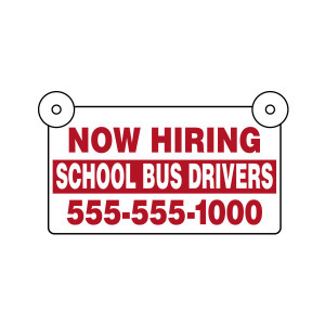 Now Hiring Custom Bus Signs
