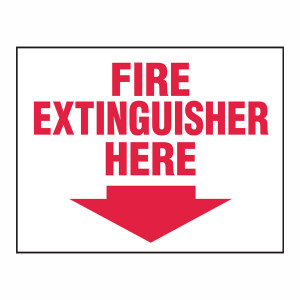 Fire Extinguisher Here Magnet