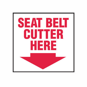 Seat Belt Cutter Here Magnet