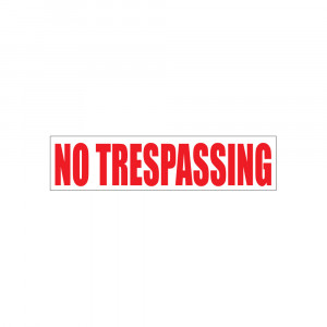 No Trespassing Decal