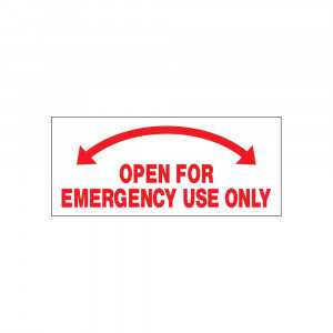 Open For Emergency Use Only Decal