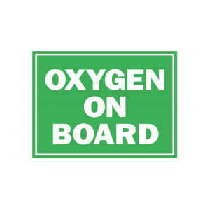 Oxygen On Board Decal