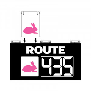 Route Changer™ XL Slide-In Combination Sign with Hinges