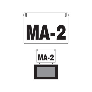 Additional Wide Slide-In Inserts for Route Changer™ Wide Exterior Slide-In Signs