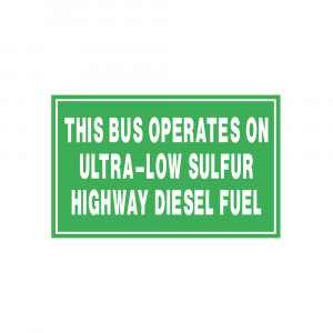 Ultra-Low Sulfur Highway Diesel Decal