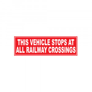 Railway Crossings Red Decal