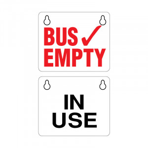 Two-Sided Bus Empty Sign with Key-Hole Suction Cups