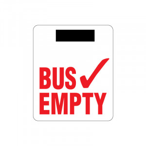 Magnetic Bus Empty Sign