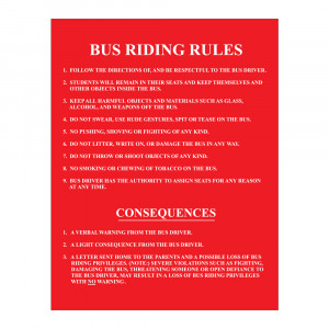 Bus Riding Rules Decal