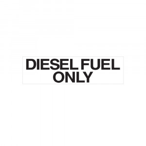 Diesel Fuel Only Decal