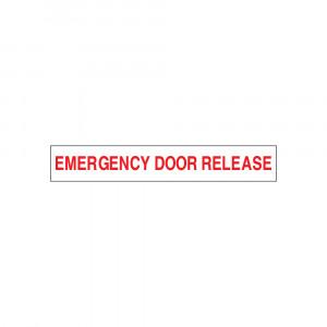 Emergency Door Release Decal