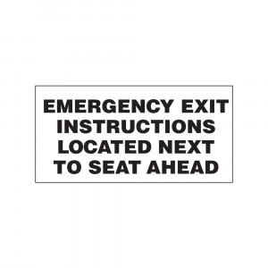 Emergency Exit Instructions Decal