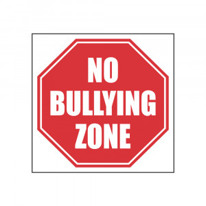 No Bullying Zone Stop Sign Decal