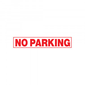 No Parking Decal