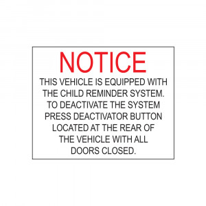 Child Reminder System Decal