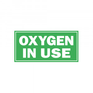 Oxygen in Use Decal