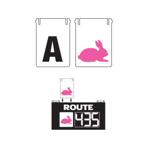 Additional Slide-In Inserts for Route Changer™ Combination Signs