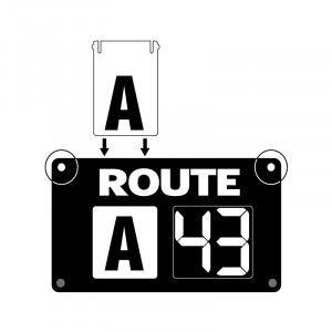 Route Changer™ XL Slide-In  Combination Sign with Suction Cups