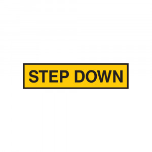 Step Down Decal