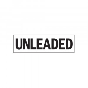 Unleaded Decal