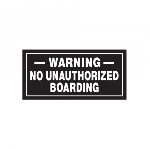 No Unauthorized Boarding Decal